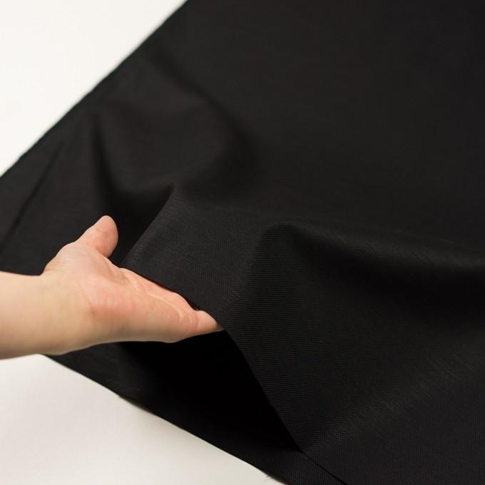 コットン&リネン混×無地(ブラック)×キャンバス・ストレッチ イメージ5