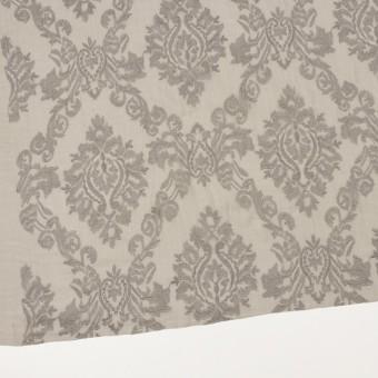 ポリエステル×幾何学模様(カーキグレー)×ジョーゼット刺繍 サムネイル2