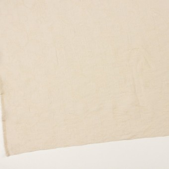 コットン&ナイロン×フラワー(キナリ)×オーガンジー・ジャガード_全3色 サムネイル2