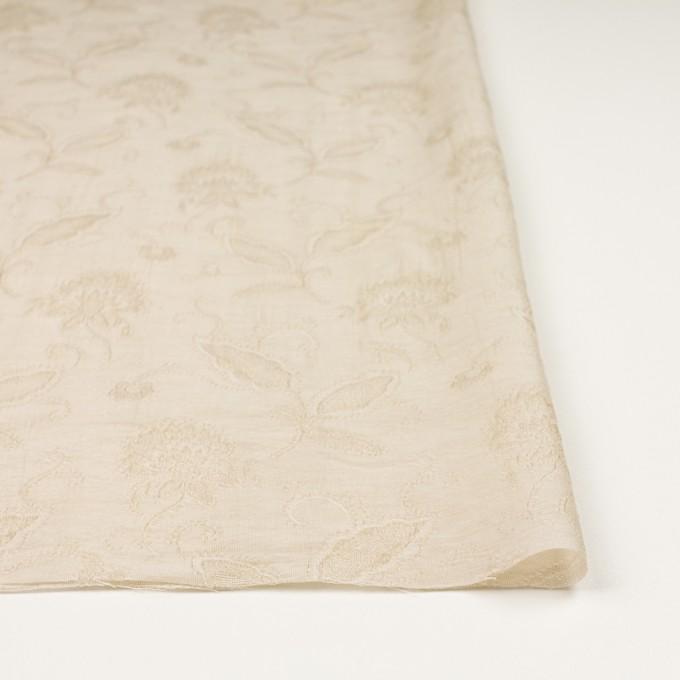 コットン&ナイロン×フラワー(キナリ)×オーガンジー・ジャガード_全3色 イメージ3