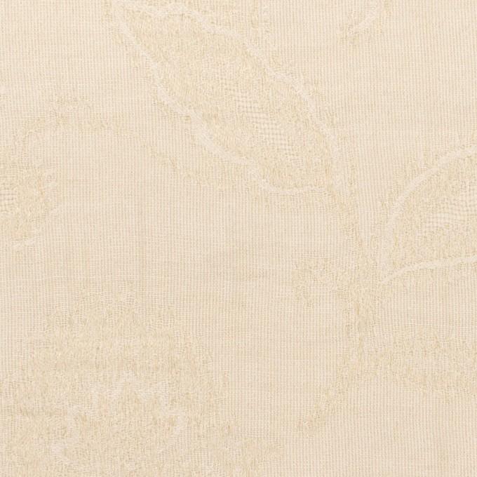 コットン&ナイロン×フラワー(キナリ)×オーガンジー・ジャガード_全3色 イメージ1