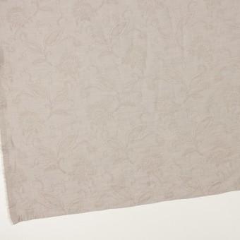 コットン&ナイロン×フラワー(パールグレー)×オーガンジー・ジャガード_全3色 サムネイル2