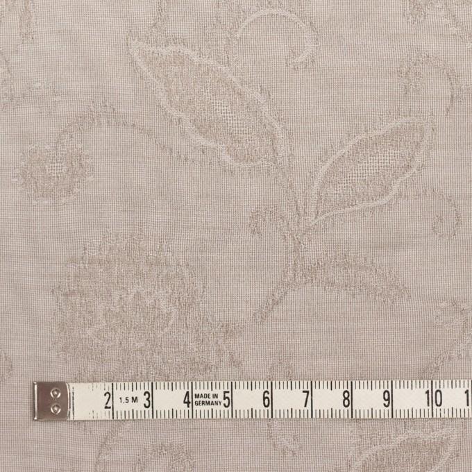 コットン&ナイロン×フラワー(パールグレー)×オーガンジー・ジャガード_全3色 イメージ4