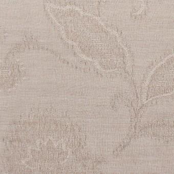 コットン&ナイロン×フラワー(パールグレー)×オーガンジー・ジャガード_全3色