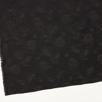 コットン&ナイロン×フラワー(ブラック)×オーガンジー・ジャガード_全3色 サムネイル2