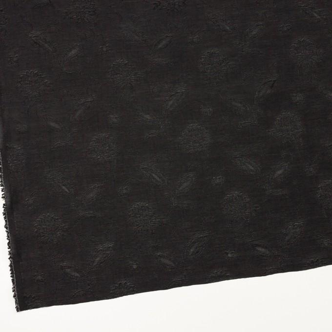 コットン&ナイロン×フラワー(ブラック)×オーガンジー・ジャガード_全3色 イメージ2