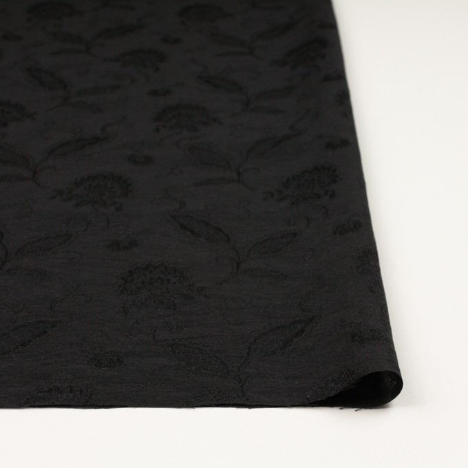 コットン&ナイロン×フラワー(ブラック)×オーガンジー・ジャガード_全3色 イメージ3