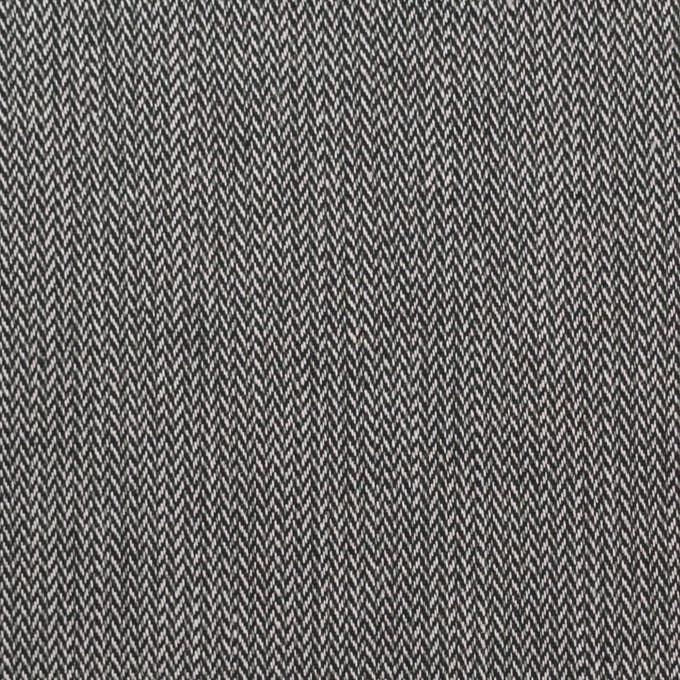 コットン&ポリウレタン×ミックス(チャコールグレー)×ヘリンボーン・ストレッチ イメージ1