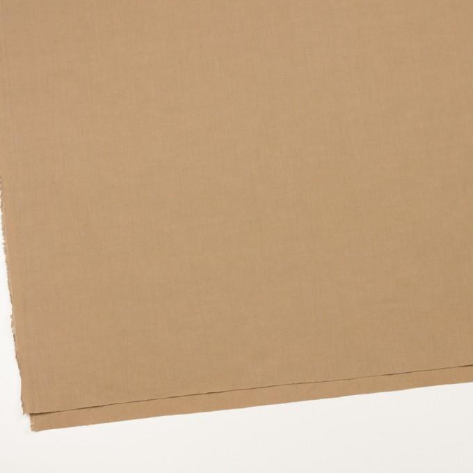 リネン&ビスコース混×無地(オークル)×シーチング・ストレッチ_全2色_イタリア製 イメージ2