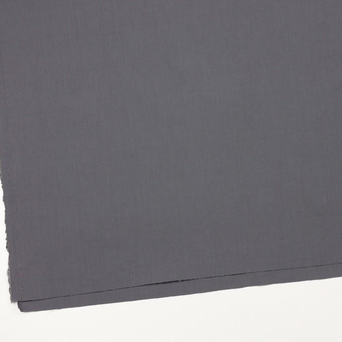 リネン&ビスコース混×無地(スチール)×シーチング・ストレッチ_全2色_イタリア製 イメージ2