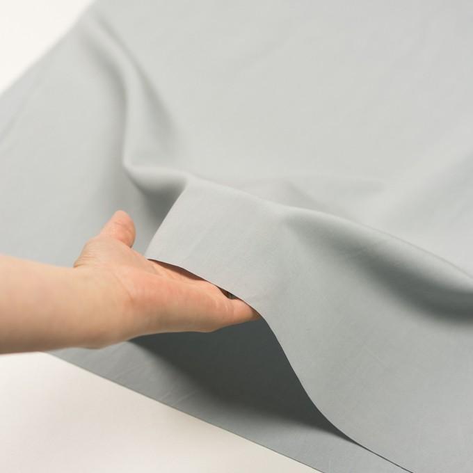 リネン&コットン混×無地(サックスグレー)×ポプリン_全3色_イタリア製 イメージ5
