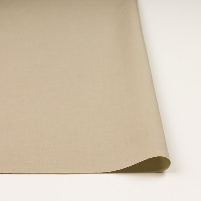 リネン&コットン混×無地(カーキ)×ポプリン_全3色_イタリア製 イメージ3