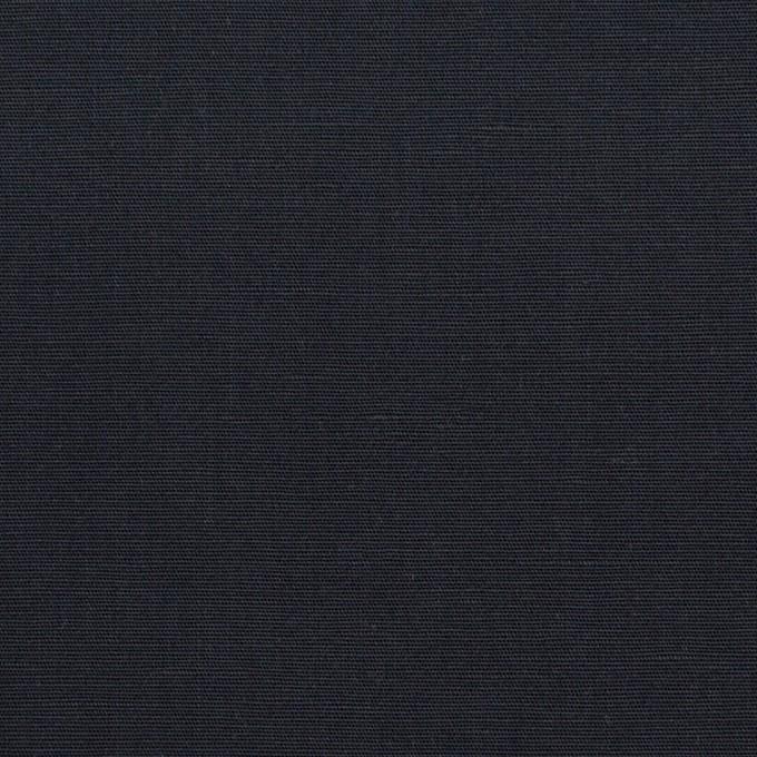 リネン&コットン混×無地(ダークネイビー)×ポプリン_全3色_イタリア製 イメージ1