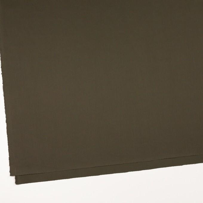 コットン×無地(ダークカーキ)×サテン_全7色 イメージ2