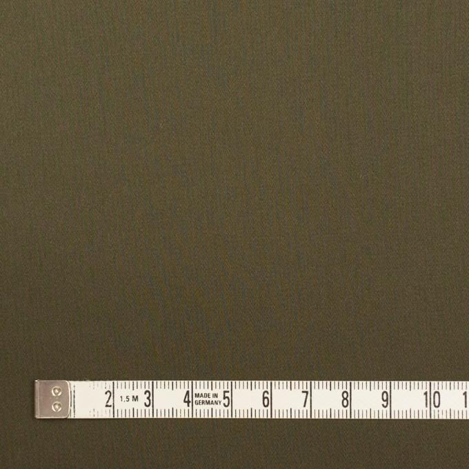 コットン×無地(ダークカーキ)×サテン_全7色 イメージ4