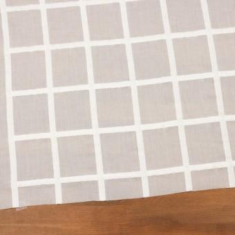 コットン×チェック(オフホワイト)×ボイル刺繍 サムネイル2