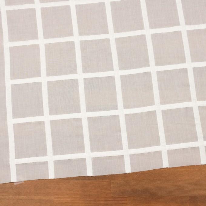 コットン×チェック(オフホワイト)×ボイル刺繍 イメージ2