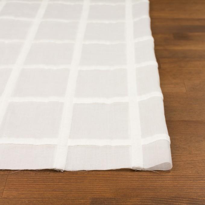 コットン×チェック(オフホワイト)×ボイル刺繍 イメージ3