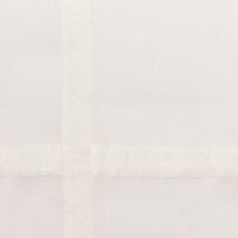 コットン×チェック(オフホワイト)×ボイル刺繍