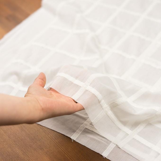 コットン×チェック(オフホワイト)×ボイル刺繍 イメージ5