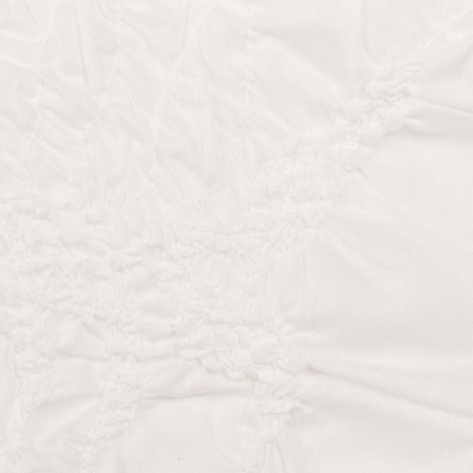 コットン×幾何学模様(オフホワイト)×ローンシャーリング刺繍_全2色 イメージ1
