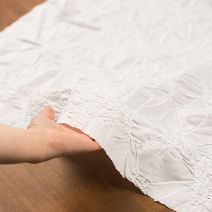コットン×幾何学模様(オフホワイト)×ローンシャーリング刺繍_全2色 イメージ5