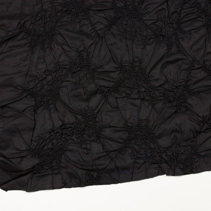 コットン×幾何学模様(ブラック)×ローンシャーリング刺繍_全2色 イメージ2
