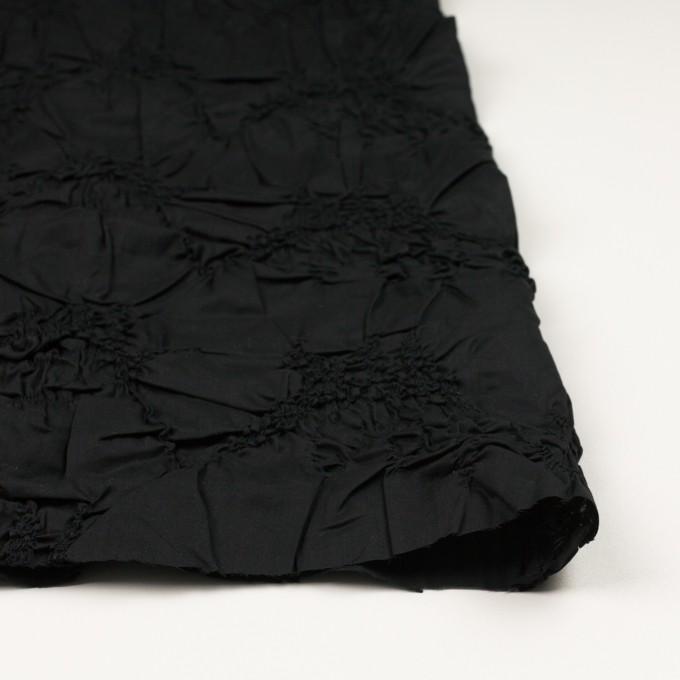 コットン×幾何学模様(ブラック)×ローンシャーリング刺繍_全2色 イメージ3