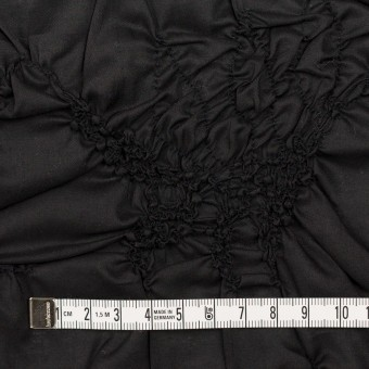 コットン×幾何学模様(ブラック)×ローンシャーリング刺繍_全2色 サムネイル4