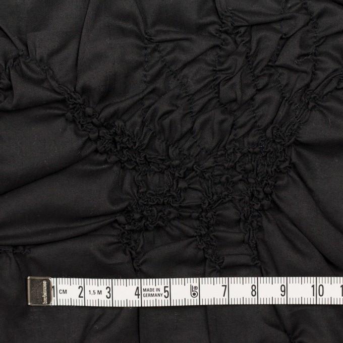 コットン×幾何学模様(ブラック)×ローンシャーリング刺繍_全2色 イメージ4