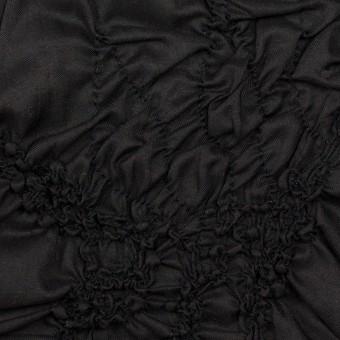 コットン×幾何学模様(ブラック)×ローンシャーリング刺繍_全2色
