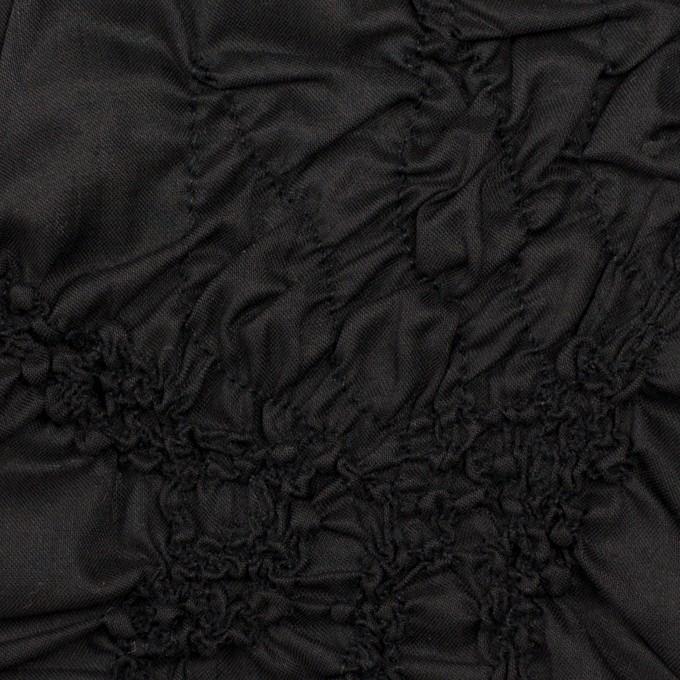 コットン×幾何学模様(ブラック)×ローンシャーリング刺繍_全2色 イメージ1