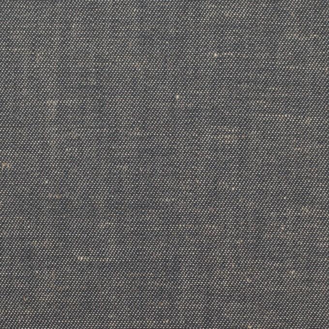 コットン&リネン×無地(チャコールグレー)×サージ イメージ1