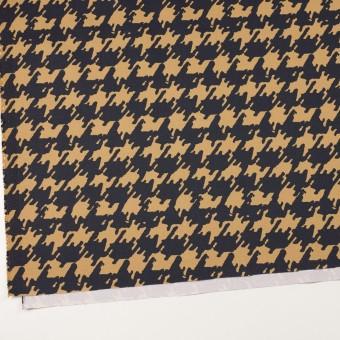 コットン&ポリウレタン×ペイント(ベージュ&ダークネイビー)×チノクロス・ストレッチ サムネイル2