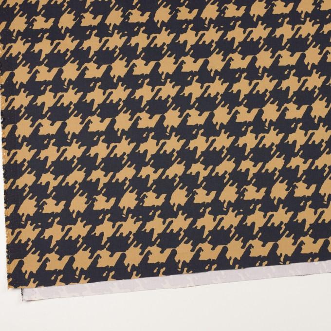コットン&ポリウレタン×ペイント(ベージュ&ダークネイビー)×チノクロス・ストレッチ イメージ2