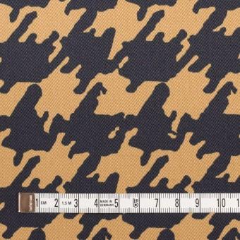 コットン&ポリウレタン×ペイント(ベージュ&ダークネイビー)×チノクロス・ストレッチ サムネイル4