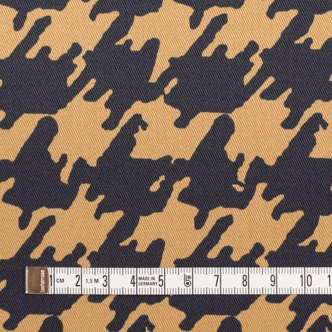 コットン&ポリウレタン×ペイント(ベージュ&ダークネイビー)×チノクロス・ストレッチ イメージ4
