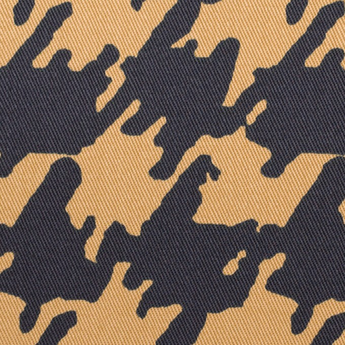 コットン&ポリウレタン×ペイント(ベージュ&ダークネイビー)×チノクロス・ストレッチ イメージ1