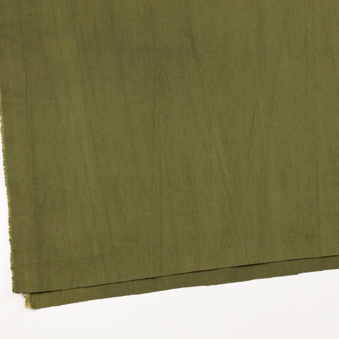 コットン&ポリウレタン×無地(カーキグリーン)×かわり織ストレッチ_全2色 イメージ2