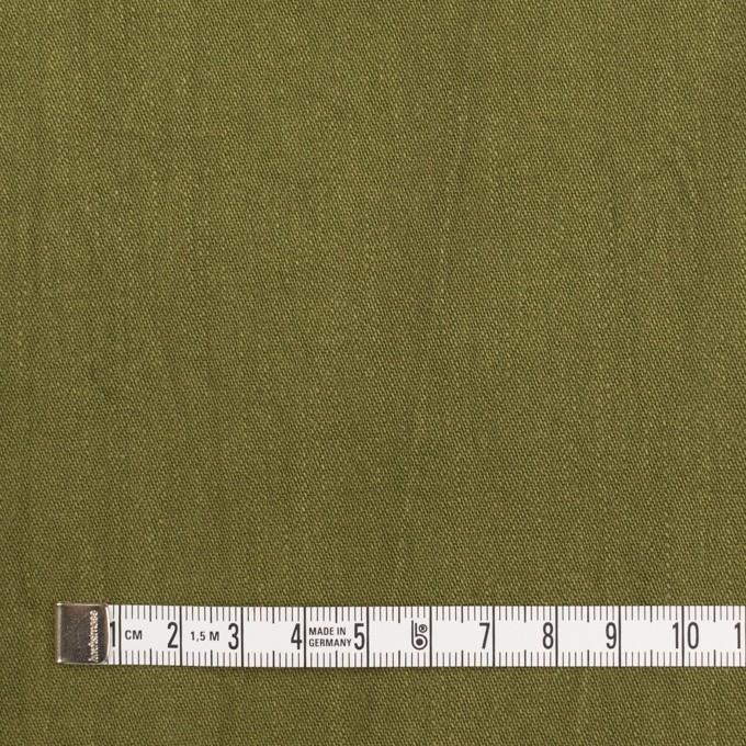 コットン&ポリウレタン×無地(カーキグリーン)×かわり織ストレッチ_全2色 イメージ4
