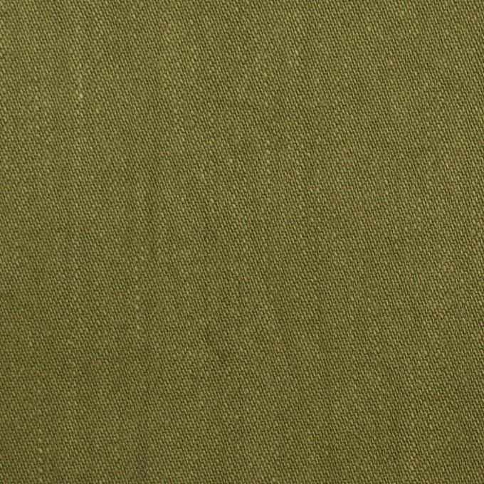 コットン&ポリウレタン×無地(カーキグリーン)×かわり織ストレッチ_全2色 イメージ1