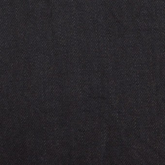 コットン&ポリウレタン×無地(ブラック)×かわり織ストレッチ_全2色
