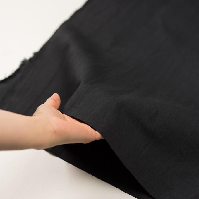 コットン&ポリウレタン×無地(ブラック)×かわり織ストレッチ_全2色 イメージ5