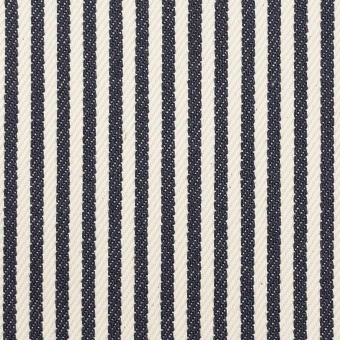 コットン×ストライプ(インディゴ)×デニムヒッコリー(11.5oz) イメージ1