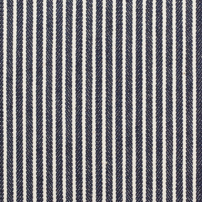 コットン&ポリウレタン×ストライプ(インディゴ)×デニムヒッコリー・ストレッチ(9oz) イメージ1