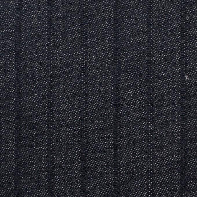 コットン×ストライプ(インディゴ)×デニム(7oz) イメージ1