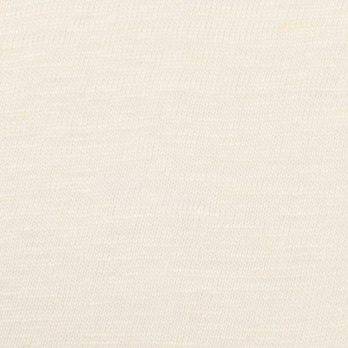 コットン&リネン×無地(クリーム)×天竺ニット イメージ1