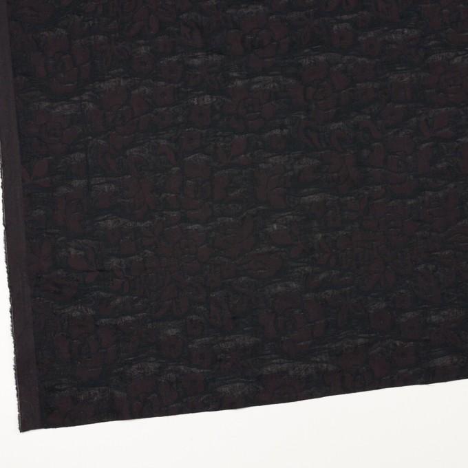 コットン×フラワー(ビターチョコレート)×二重織ジャガード イメージ2