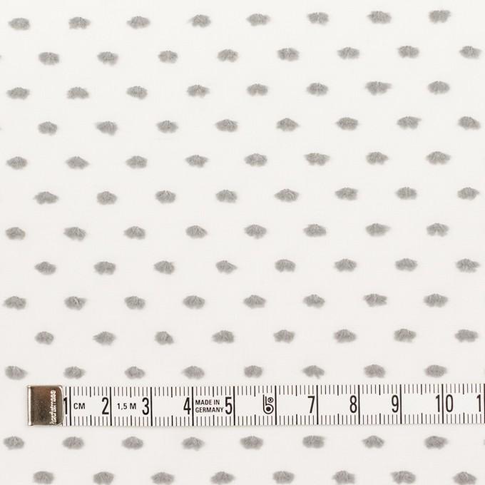 コットン×ドット(グレー)×ボイルカットジャガード イメージ4
