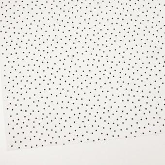 コットン×ドット(オフホワイト&ブラック)×ローン_全3色 サムネイル2